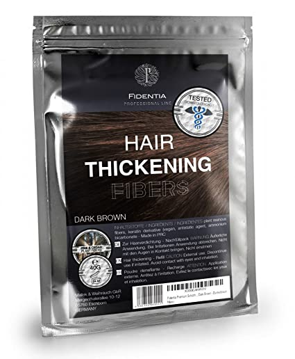 Fidentia Hair - Fibras Capilares Ricarica 40g, Castaño Oscuro - Dark Brown