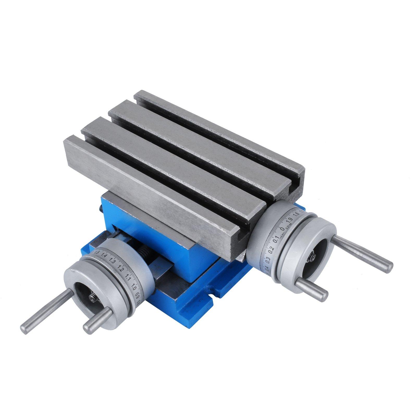 BestEquip 7.3 x 4 Inch Milling Machine Work Table Slide Milling Working Cross Table Machine for All Drill Stands Bench Drilling Milling Vise Machine (7.3 X 4 Inch)