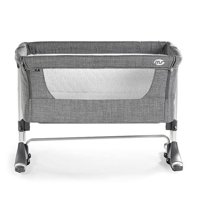 Minicuna Colecho Teeny balancín con Mosquitera de Lino gris - Innovaciones MS: Amazon.es: Bebé