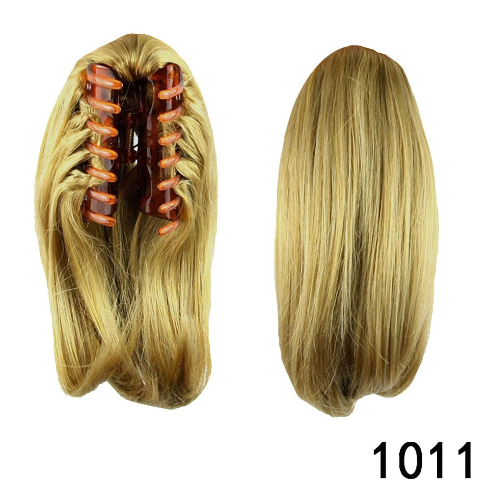 PrettyWit 10 Pony Tail Ponytail Hair Extensions Hairpiece Wig Long Messy Curls Wavy Clip In/On Claw(Medium Brown & Light Auburn 2005) APClSG660037-2005