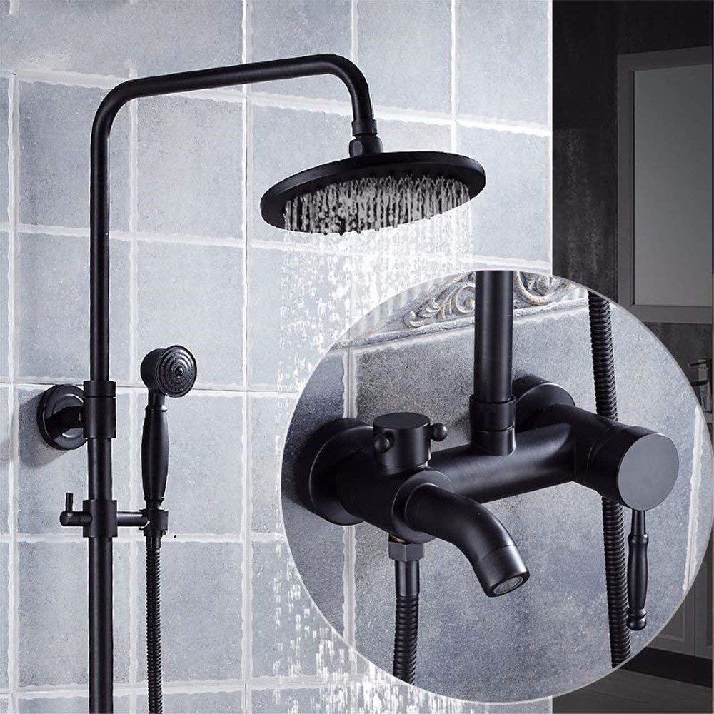A6 The rain Shower, taps, Articles of European Style Black Articles of valves, The Pressure, The Whole of Copper Wall Nature, Ancient Four Sprinkler Block Close, A2