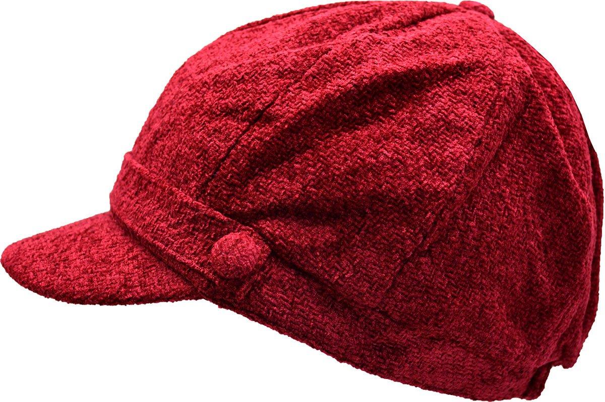 Charter Club Women's Chenille Newsboy Hat Cherry O/S