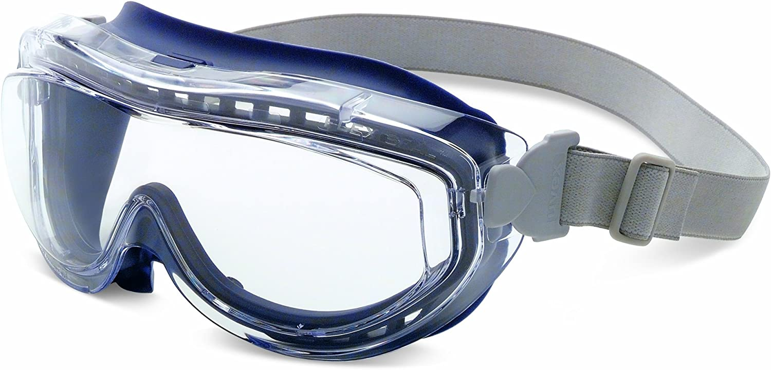 Uvex Flex Seal Goggles with Clear Anti-Fog Lens and Navy Frame