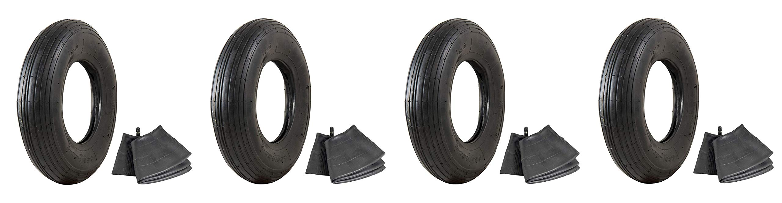 Marathon Industries 4.80/4.00-8'' Replacement Pneumatic Wheel Tire and Tube (Pack of 4) by Marathon Industries