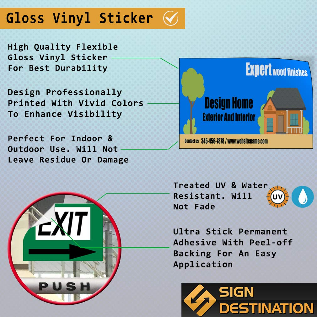 Custom Door Decals Vinyl Stickers Multiple Sizes Expert Wood Finishes Design Home Business Expert Wood Finishes Outdoor Luggage /& Bumper Stickers for Cars Blue 48X32Inches Set of 5