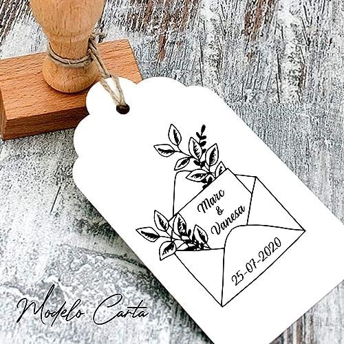 Sello BODA personalizado.Tinta incluida. Modelo Carta. Realizado en Valencia, España.: Amazon.es: Handmade