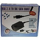 Link-e ® : Adaptateur convertisseur pour disque dur SATA IDE (2.5 + 3.5 + 5.25) vers USB 2.0 avec alimentation externe