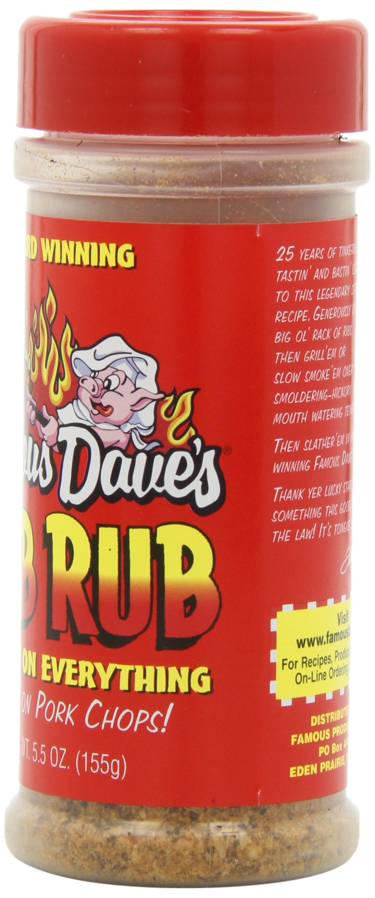 Famous Dave's Seasoning Rib Rub, 5.5-Ounce (Pack of 6) by Famous Dave's (Image #6)