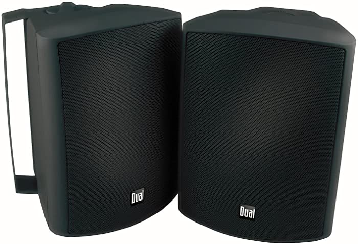 Dual Electronics LU53PB 3-Way High Performance Outdoor Indoor Speakers with Powerful Bass | Effortless Mounting Swivel Brackets | All Weather Resistance | Expansive Stereo Sound Coverage | Sold in Pairs