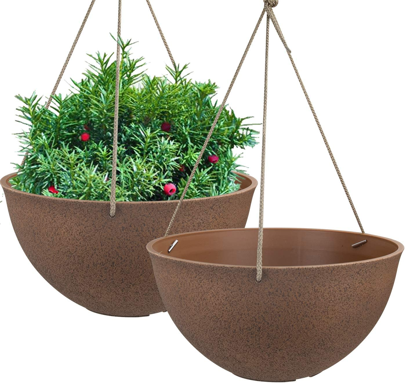 Vista Garden Flower Herb Plant Pot Colour Plastic Round Indoor Outdoor BLACK New