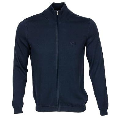 76b4dbae3031 BOSS Pull Veste Zippée Hugo Homme (XL, Bleu Marine)  Amazon.fr  Vêtements  et accessoires