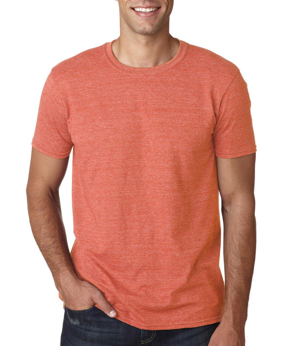 (ギルダン) Gildan メンズ ソフトスタイル 半袖Tシャツ トップス カットソー 男性用 B014WD5DGG 3L|Heather Orange (35/65) Heather Orange (35/65) 3L