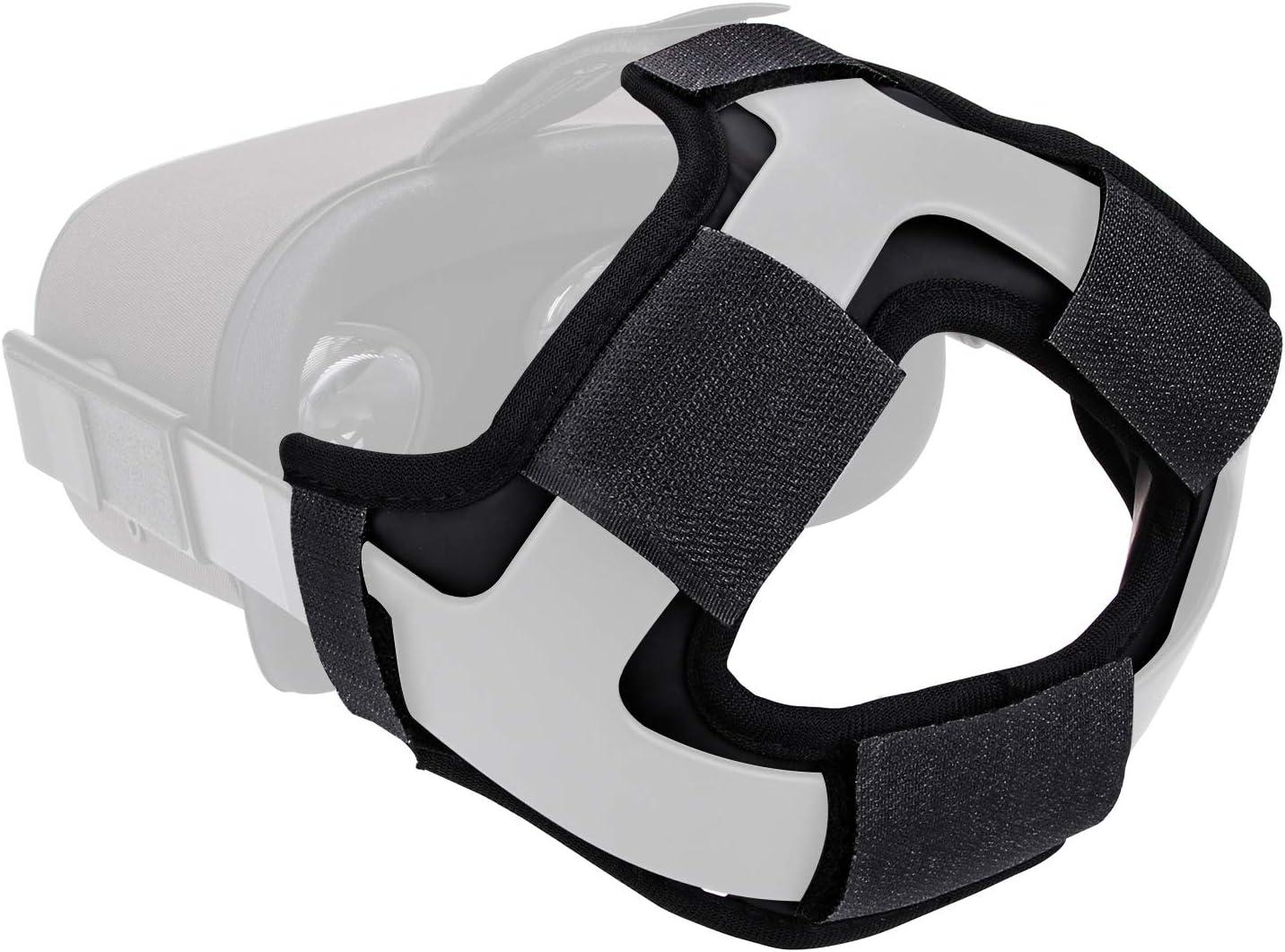 Head Strap Foam Pad for Oculus Quest - by X-super Home 2020 Pro Version VR Cover Acessories More Thick & Soft Headband Reduce Head Pressure (Black, Head Strap Pad)