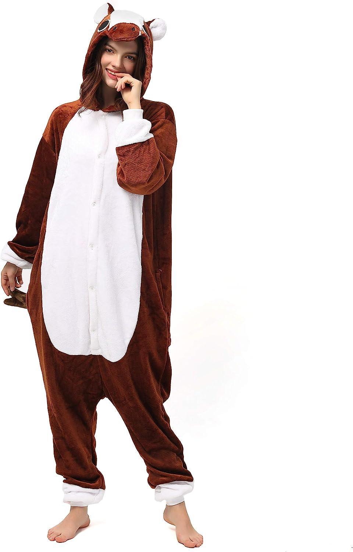 Katara- Pijamas Enteros Diferentes Animales y Tamaños, Adultos Unisex, Color Caballo marrón, Talla 175-185cm (1744)