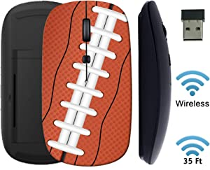 MSD Wireless Mouse 2.4G Black Base Travel Mice with USB Receiver, Noiseless and Silent Click with 1000 DPI for Notebook PC Laptop Computer MacBook Image ID: 10549030 American Football Ball Background
