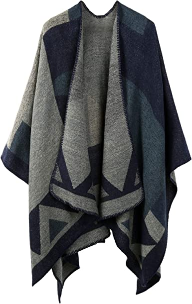 Shawl Wrap Knit Women Fringe Knitted Poncho Cardigan Cape Scarf Sweater Eco