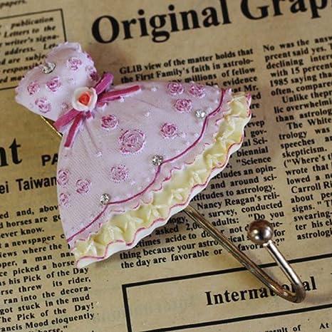 Percha de Pared Vintage con Forma de Rosa, para Ropa, Abrigos, Sombreros,