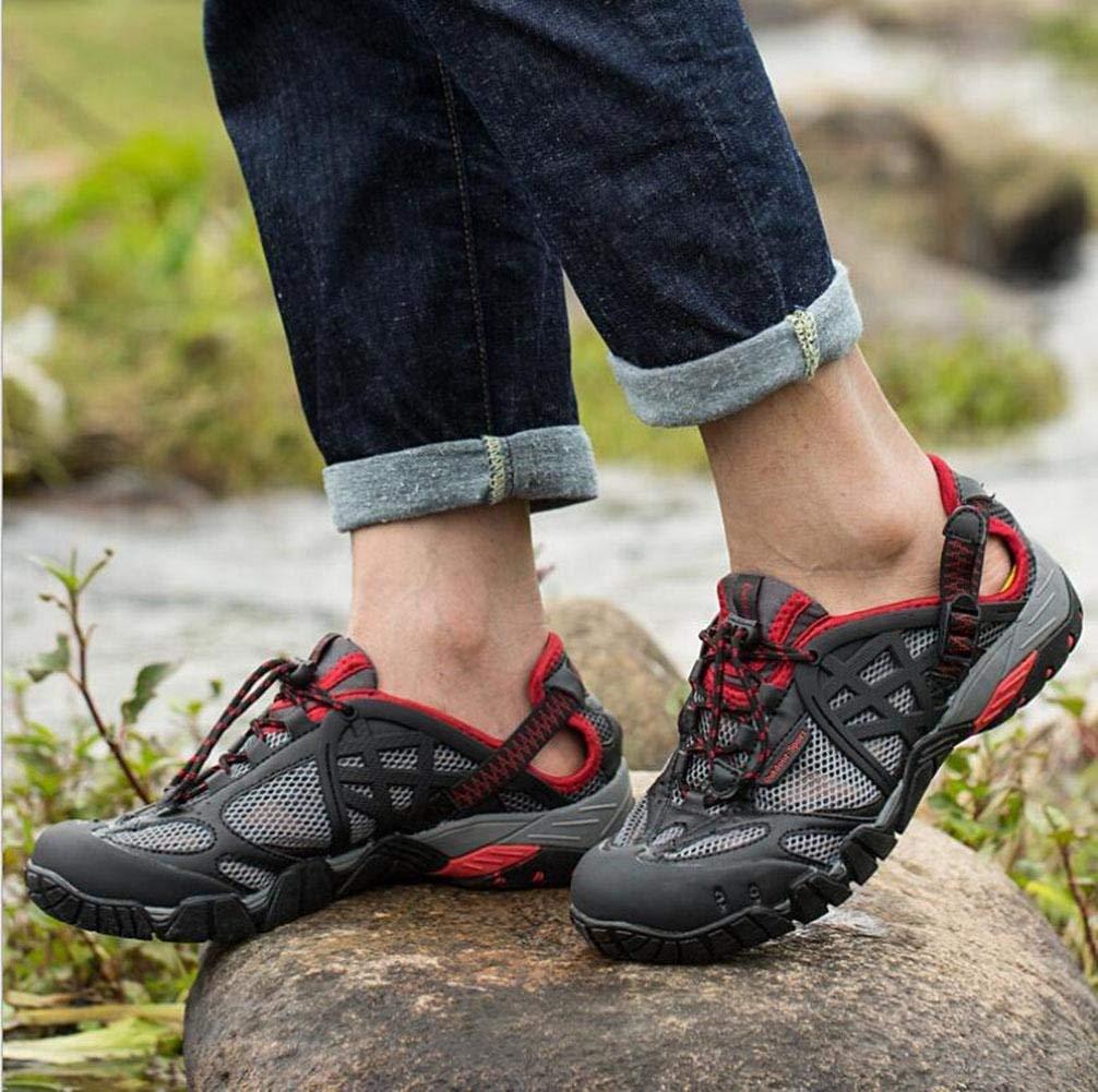 Oudan Sportschuhe Outdoor-Schuhe atmungsaktiv Geschwindigkeitsstörungen Geschwindigkeitsstörungen Geschwindigkeitsstörungen Watschuhe Wanderschuhe Anti-Rutsch-Verschleiß-Sportschuhe (Farbe   Rot, Größe   46) b65a49