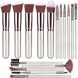 BESTOPE Makeup Brushes 16 PCs Makeup Brush Set Premium Synthetic Foundation Brush Blending Face Powder Blush Concealers Eye S