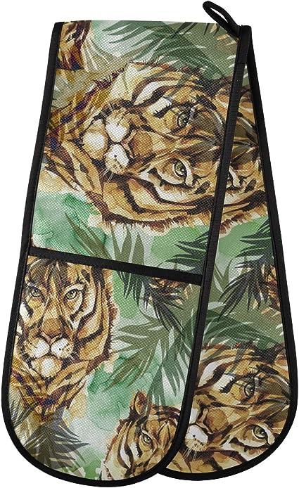 ADMustwin - Guantes de horno con diseño de tigre para ...
