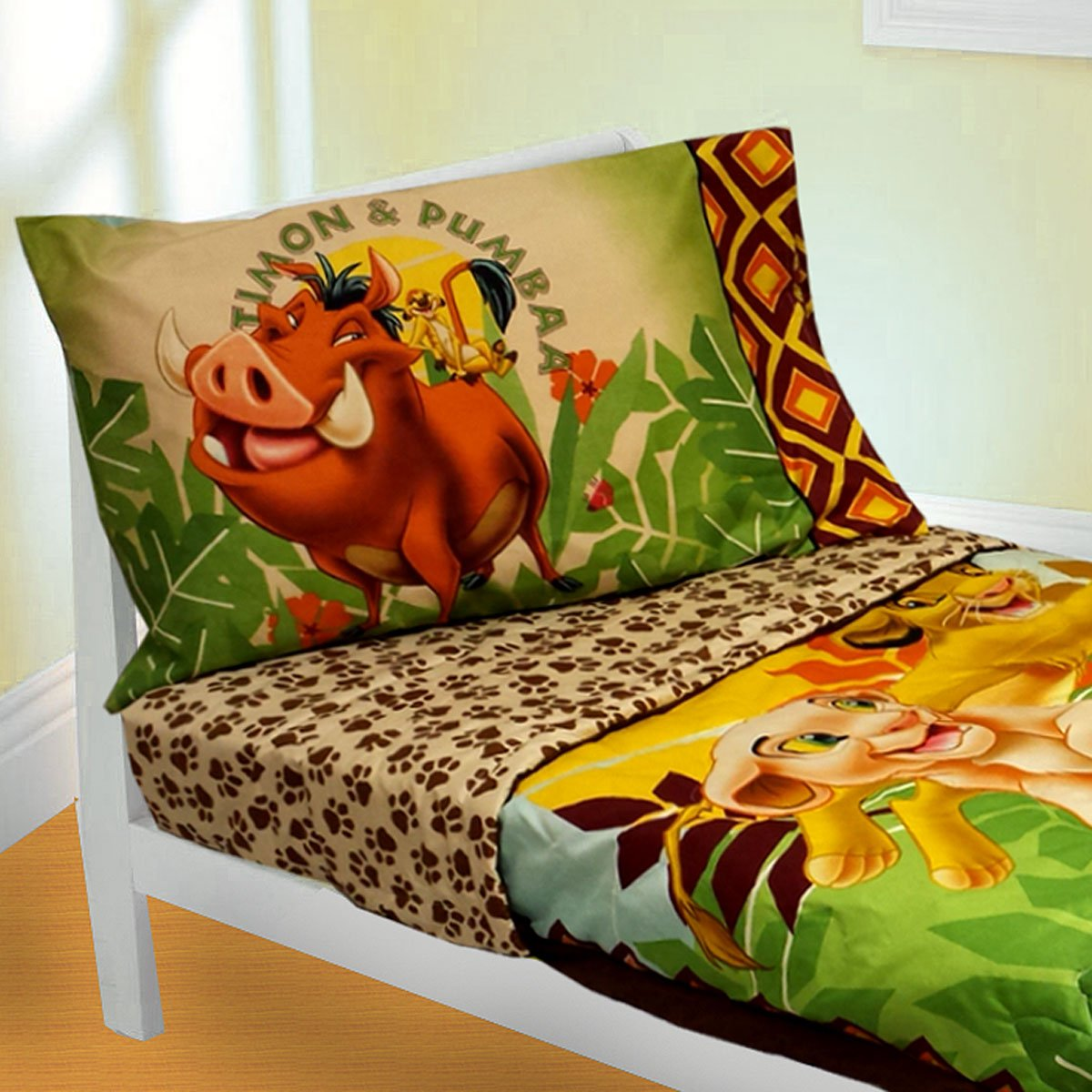 amazoncom disney lion king 4 piece toddler bedding set jungle theme bedding baby