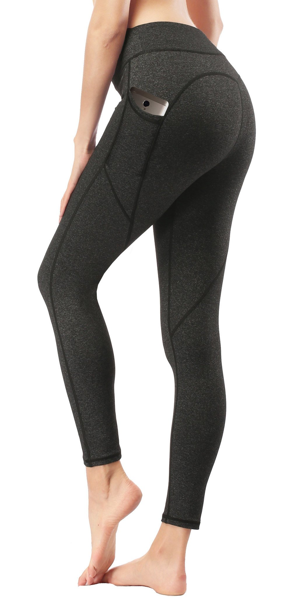 Dragon Fit Pockets Compression Yoga Pants Tummy Control 4 Way Stretch Workout Running Yoga Leggings Non See-Through