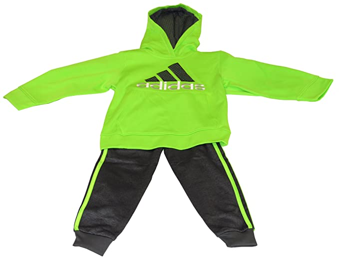 0ee9a9a1b Boy s 2 Piece Set - Sweater and Sweatpants - Adidas - Neon Green and ...