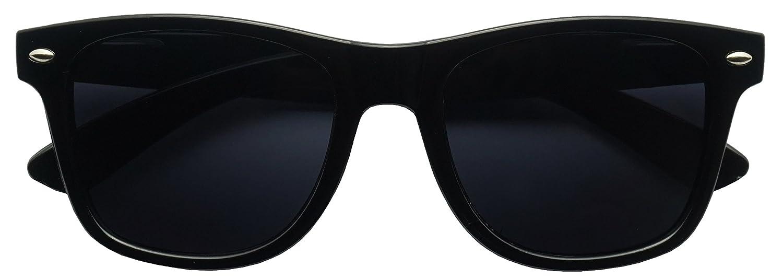 6c56e73724 Classic Black 80 s Styles Sunglasses with Super Dark Solid Lenses ...