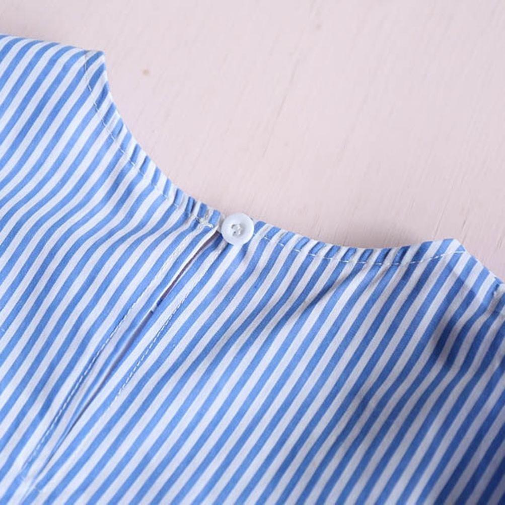 Fineser Little Girl Stripes Tassel Summer Sleeveless Princess Party Pageant Dress for 2-7T