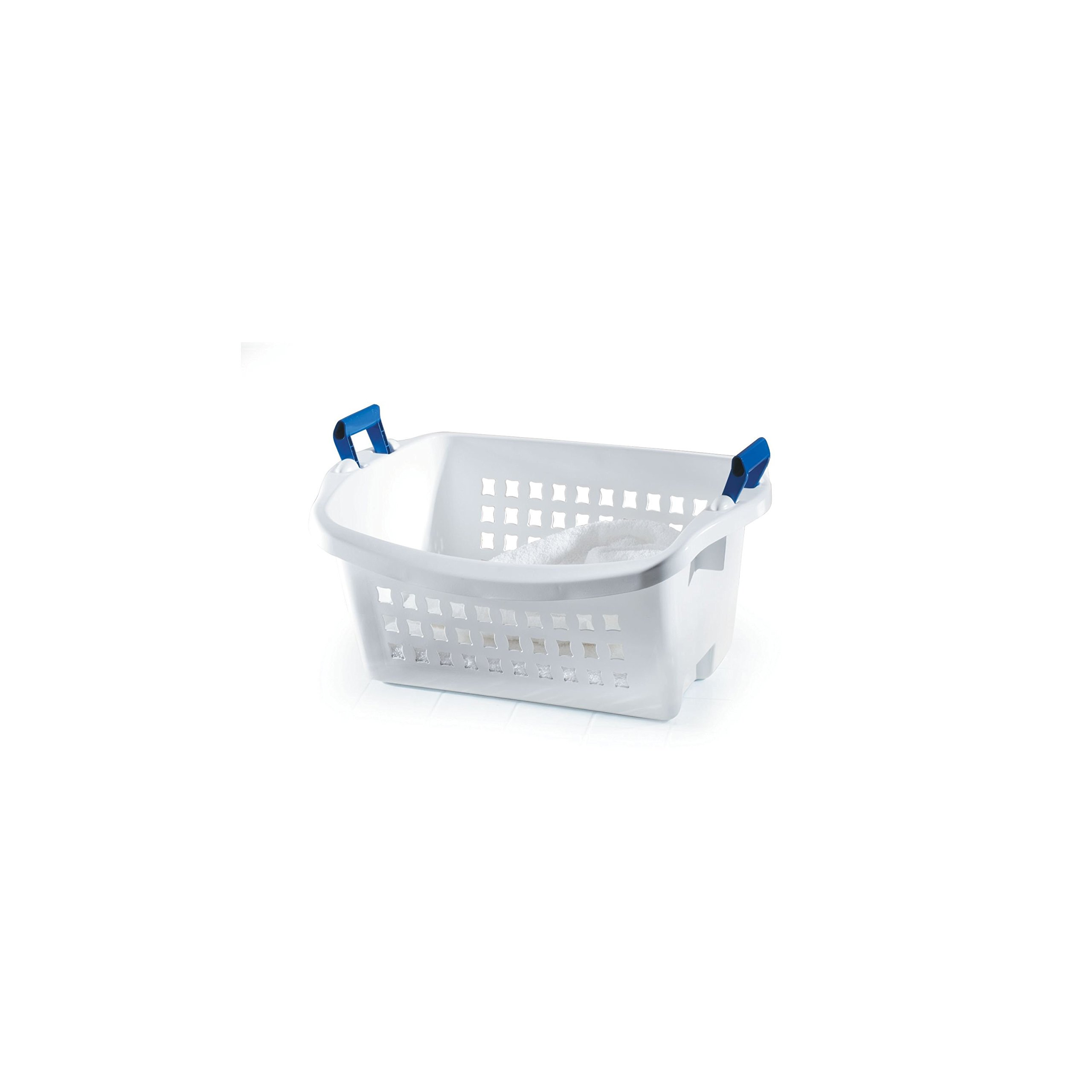 Rubbermaid Stack N' Sort Nesting Laundry Basket, White, Medium (FG292800WHT), 6 Pack