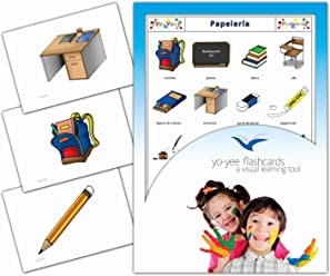 Tarjetas de vocabulario - Papelería - Spanish Classroom Flash Cards for Kids, Toddlers, Children