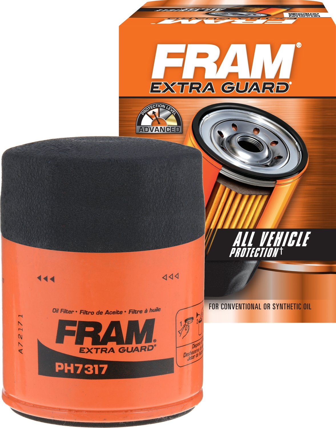 Fram Ph7317 Extra Guard Passenger Car Spin On Oil Filter Best Fuel For 7 3 Automotive