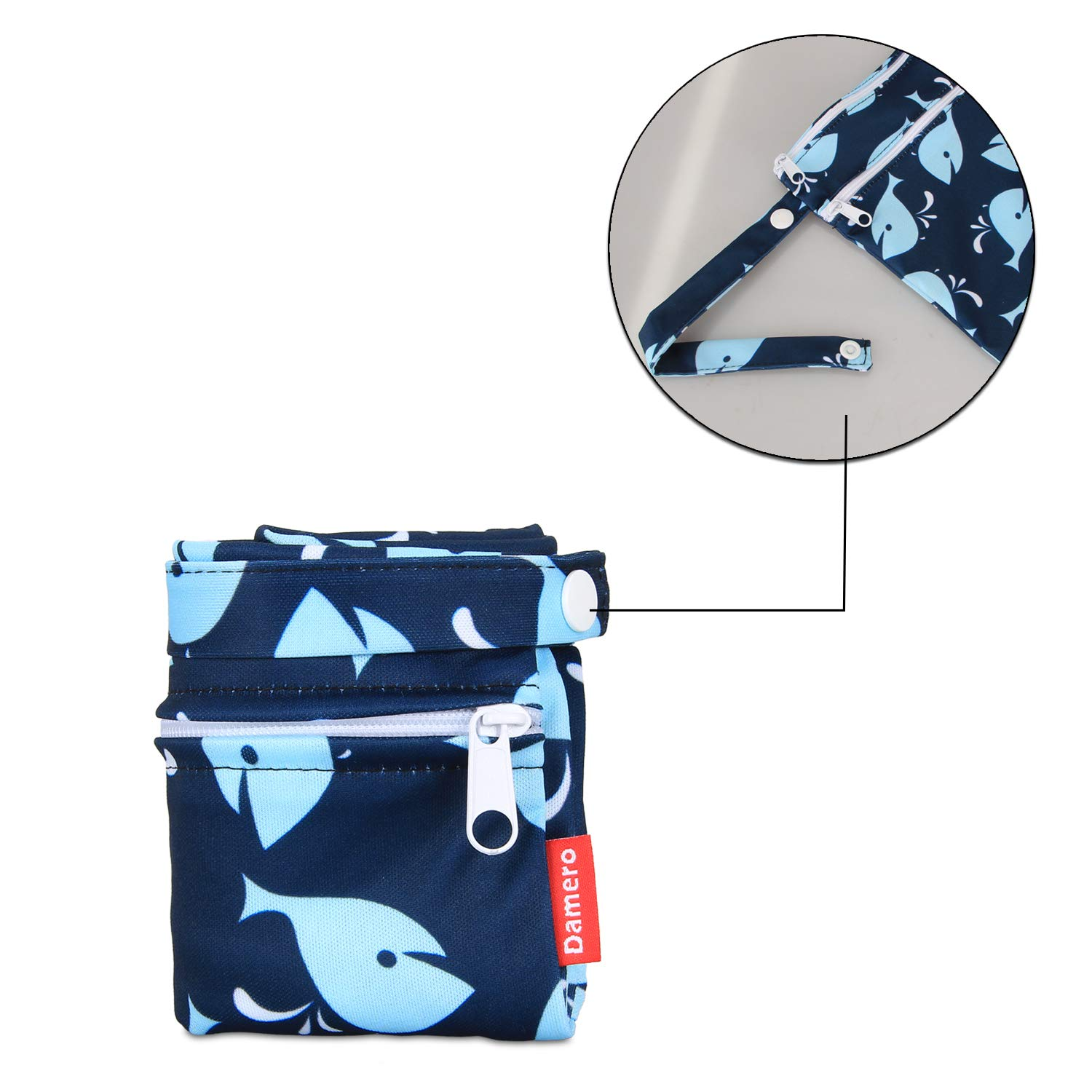 Clothes Damero Cloth Diaper Wet Dry Bags Medium,Colorful Butterfly Pumping Parts Reusable and Water-resistant Travel Wet and Dry Bag with Handle for Cloth Diaper Swimsuit and More