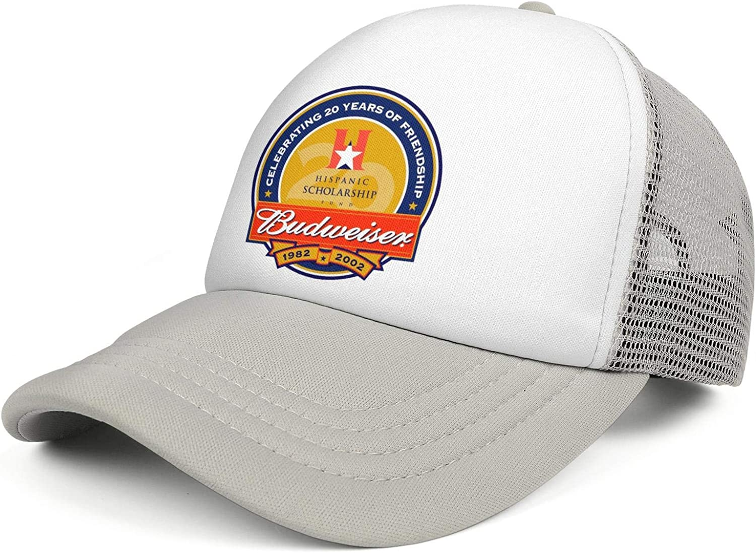 Mens and Womens Great Budweiser 8 Free Vector in Encapsulated Postscript Eps Trucker Flat Baseball HatAll Cotton Vintage
