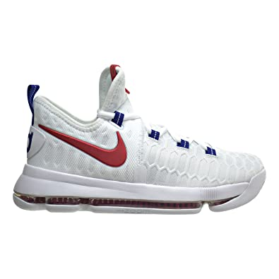 2a9355da13b1 Nike Zoom KD9(GS) Big Kid s Basketball Shoes White University Red 855908-