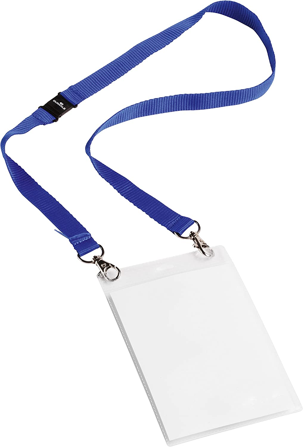 Durable 852507 Event-Nametag A6 with Textile Tape Duo Dark Blue 10 pcs
