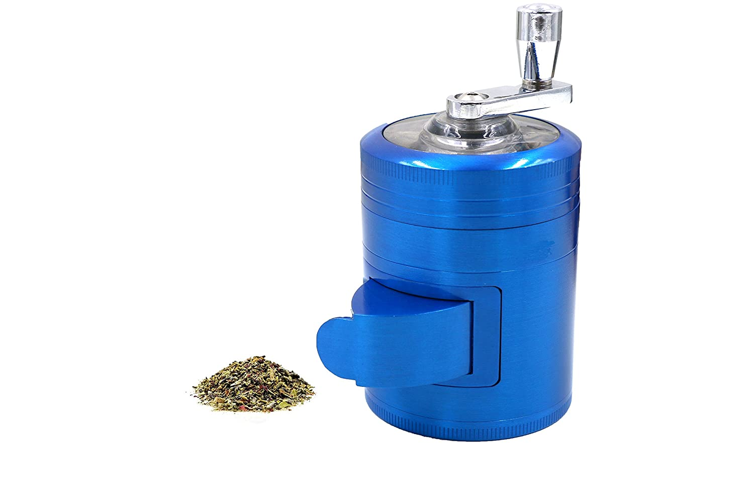 AIMAKE New Design Herb Weed& Spice 4 Piece Large 2 Inches Mills Grinder with Mill Handle & Pollen Catcher(Black) COMINHKPR138347