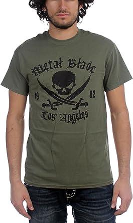 Metal Blade Records - - Pirate Hombres logo Militar camiseta verde en verde militar