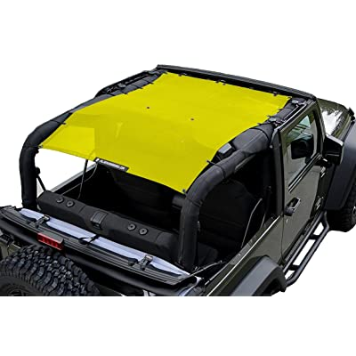ALIEN SUNSHADE 2-Door Jeep Wrangler Mesh Shade Top Cover with 10 Year Warranty Provides UV Protection for Your JK (2007-2020) (Buzz Yellow): Automotive