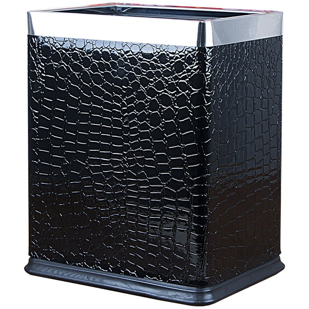 Trash Cans Meters European creative home bedroom living room hotel kitchen rectangular metal double 10l (Color : Fish pattern)