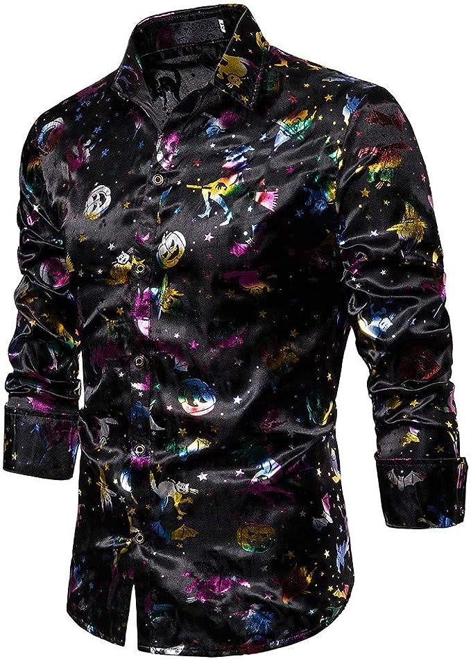 Amazon.com: Camisa de manga larga con botones para hombre ...
