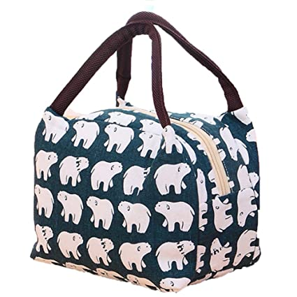 513609d50471 Lalang Thermal Insulated Lunch Bag Women Lunch Box Tote Cooler Bag (bear)   Amazon.co.uk  Kitchen   Home