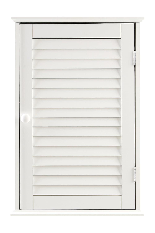 Premier Housewares Pensile per bagno con anta singola 57 x 39 x 17 cm, colore: Bianco 1600900 1600900_White
