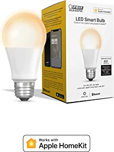 Feit Electric OM60/SW/HK 60W Equivalent A19 Smart, Works with Apple HomeKit and Siri Voice Control, No Hub Required LED Light Bulb, 4.4