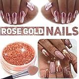 Osking 2g Rose Gold Nail Mirror Metallic Effect Chrome Powder Dust Pigments Nail Art Decoration
