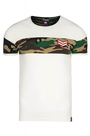 Rusty Neal Camouflage Shirt Herren T Shirt Freizeit Shirt