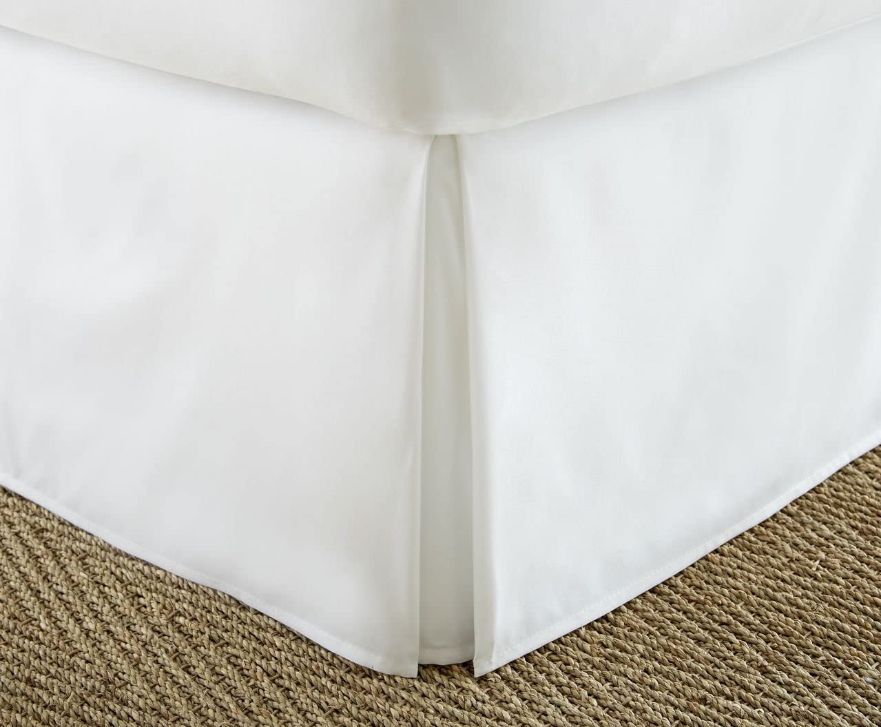 ienjoy Home Home Collection Pleated Bed Skirt, King, White