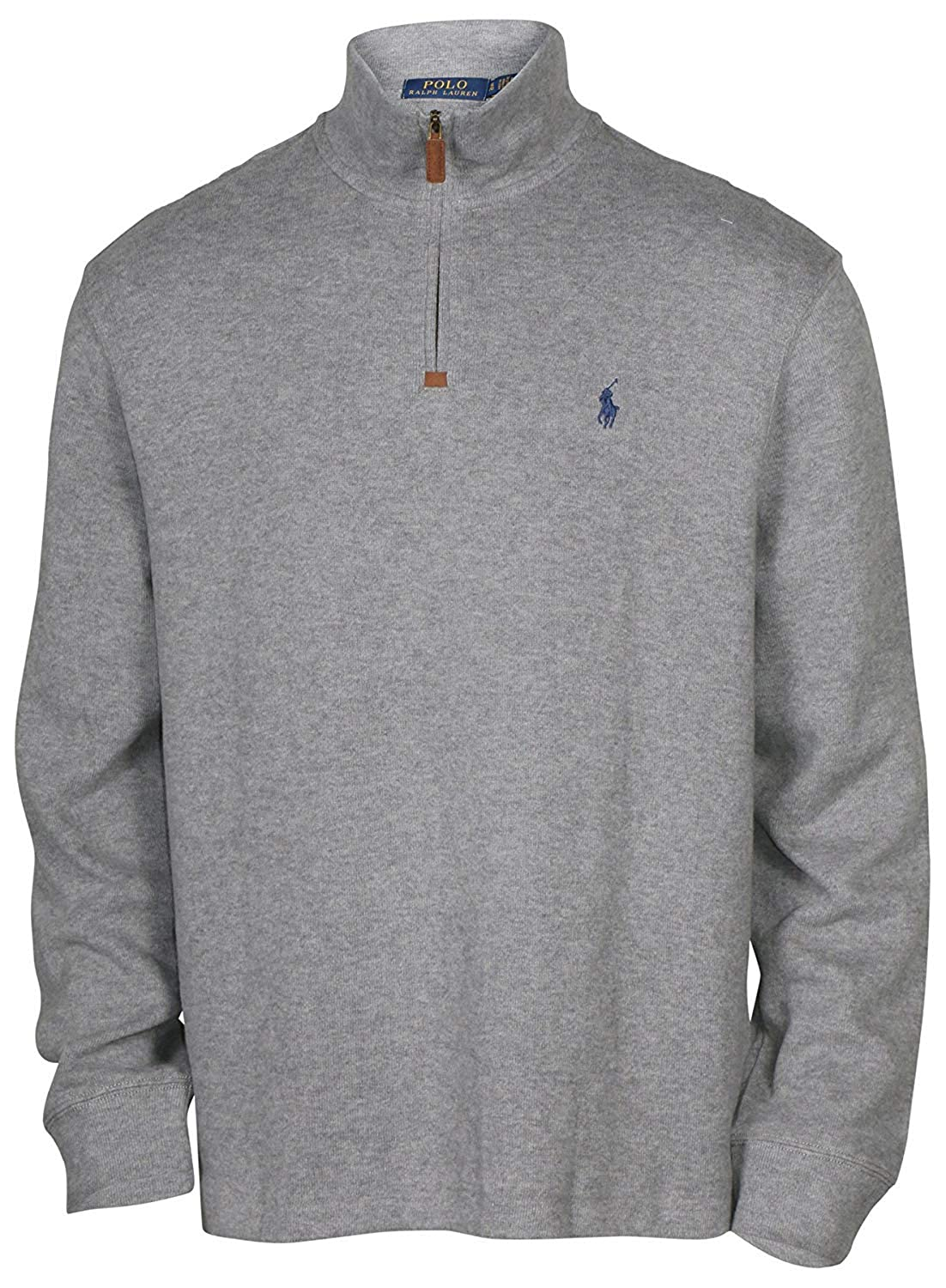 Polo Ralph Lauren Mens French Rib Knit Half Zip Pullover Sweater