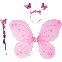 Royals Fairy Butterfly Wings Costume for Baby Girl, Light Pink