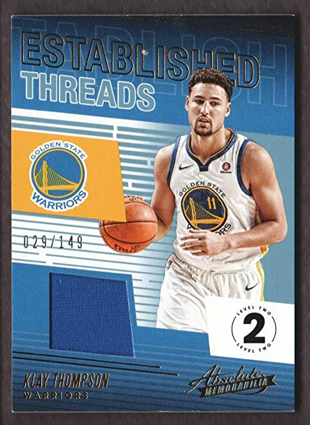 0c81450441f 2018-19 Absolute Memorabilia Basketball Established Threads Level 2 ...